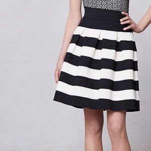 Anthropologie Girls from Savoy Striped Ponte Skirt